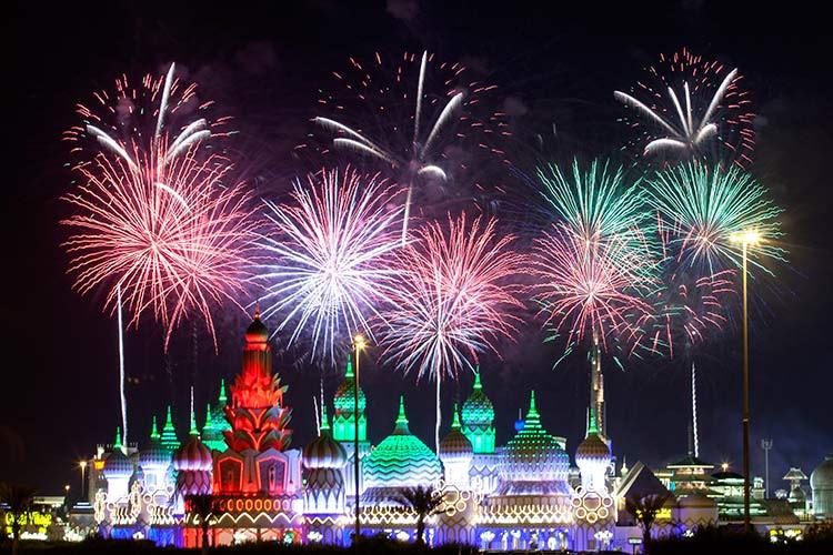 Fireworks at Global Village in Dubai by VisaDekho