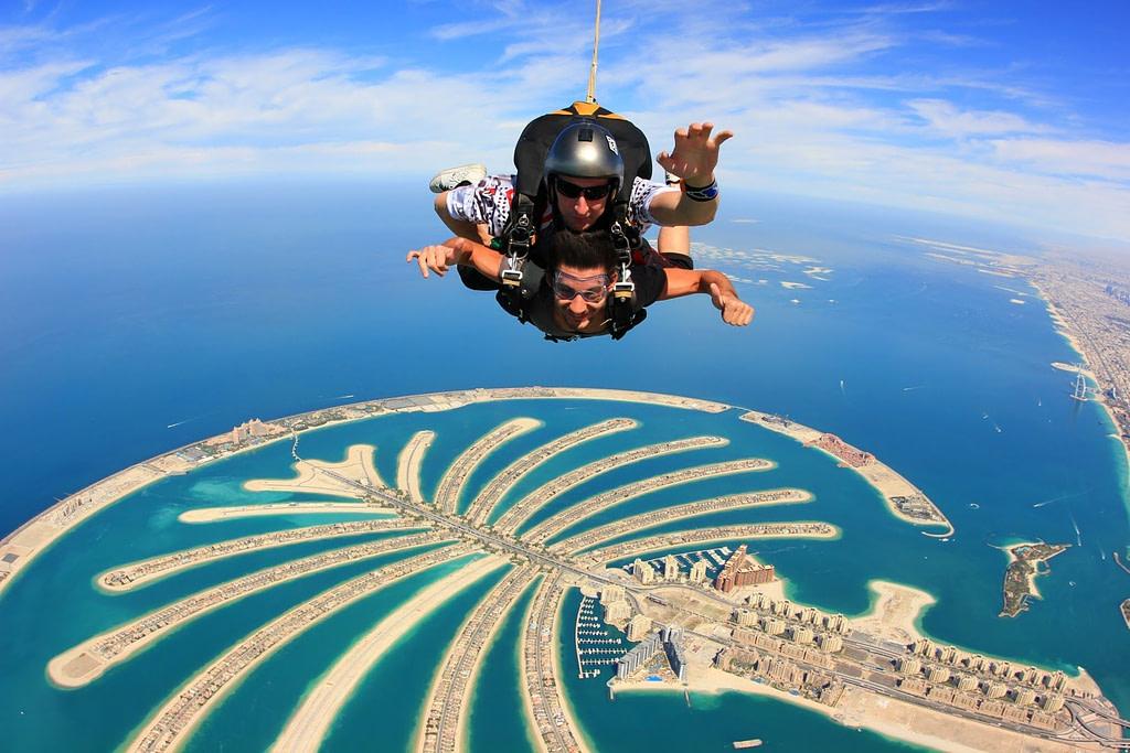 Dubai Sky Diving Palm Island Drop Zone, Palm Jumerah Dubai by VisaDekho