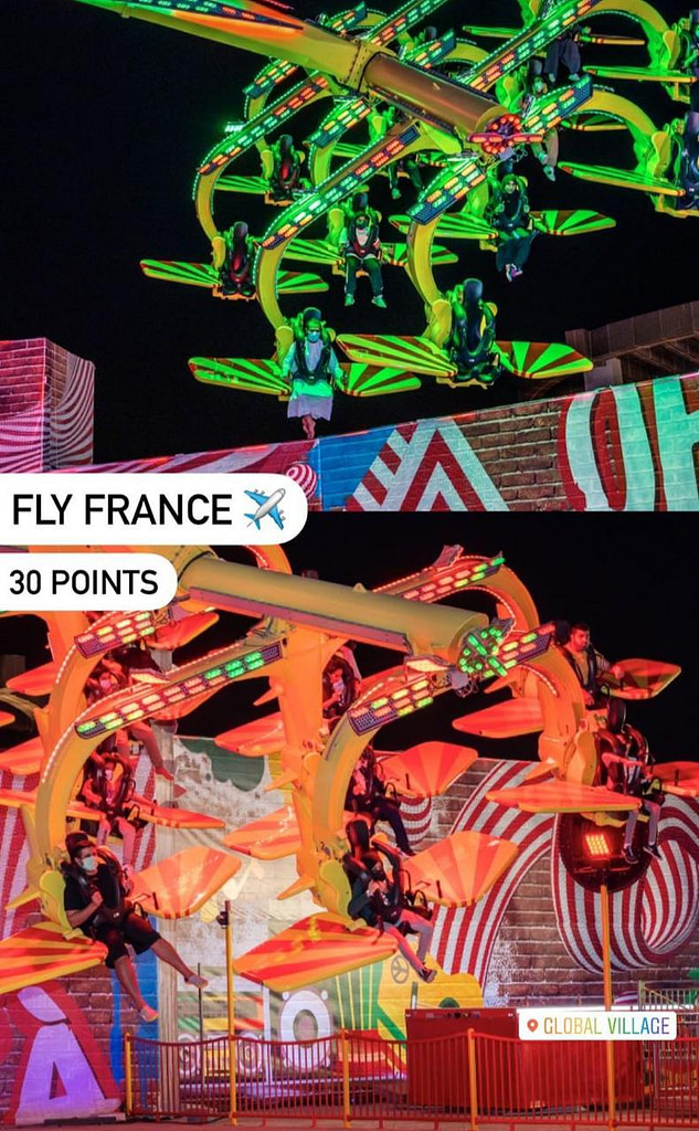 Fly France Carnaval Ride at Global Village in Dubai by Gloal Village
