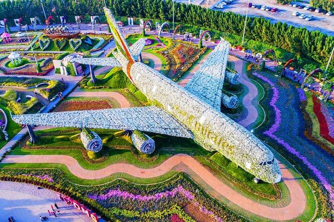 Emirates 380 at Miracle Garden by VisaDekho