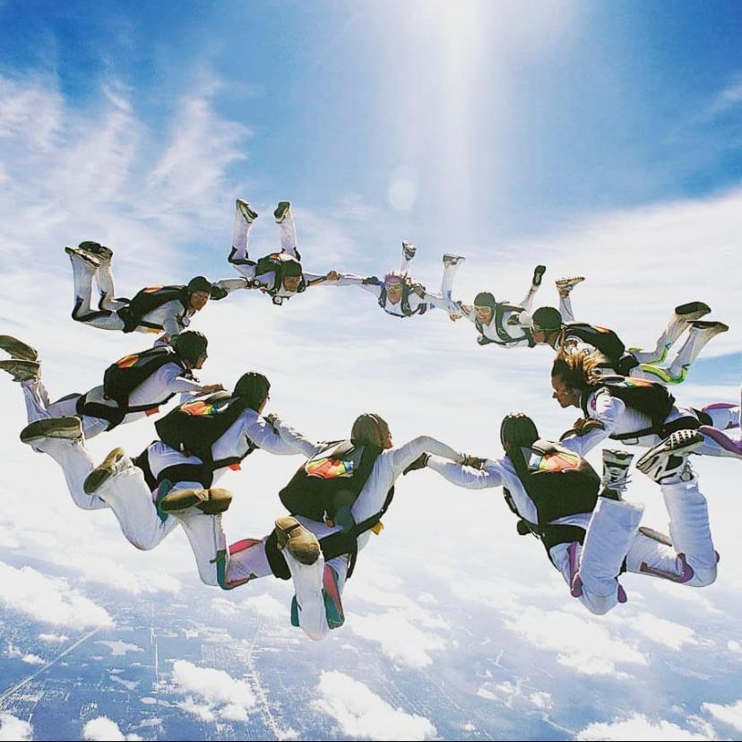 Accelerated Free Fall Sky Diving at Dubai
